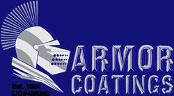 armor coatings concrete resurfacing company logo
