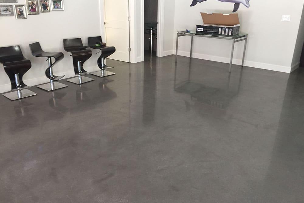 Polish concrete vs carpet
